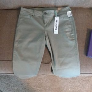 Maurices olive green jeggings